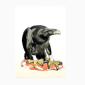 Gravure Eagle par Paul Jouve pour Rombaldi Editions, 1950