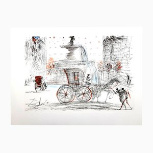 Litografia New York: Plaza di Salvador Dali, 1964