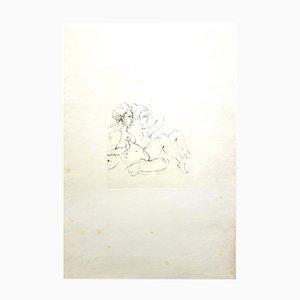 Lithographie Surrealist Portraits par Leonor Fini, 1970s
