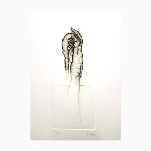 Vintage Grey Surrealism V Etching by Fred Deux