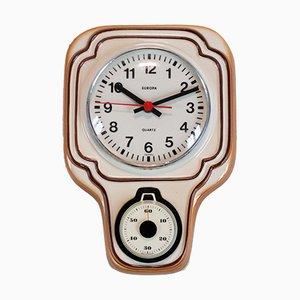 Horloge Europa en Céramique avec Timer, Allemagne, 1970s