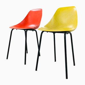 Vintage Coccinelle Beistellstühle von René Jean Caillette, 2er Set
