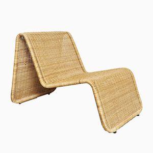 Vintage Rattan P3 Lounge Chair by Tito Agnoli for Pierantonio Bonacina