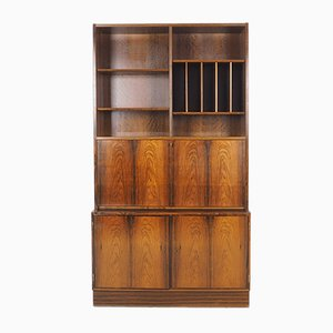 Librería con escritorio de palisandro de Carlo Jensen para Hundevad & Co., años 60