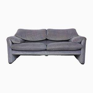 Maralunga 2-Sitzer Sofa von Vico Magistretti für Cassina, 1970er