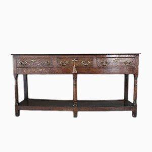 Antique Oak Console Table