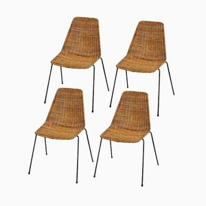 Basket Chairs by Gianfranco Legler for Disegno Graffi Home, 1956, Set of 4
