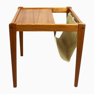 Danish Side Table with Magazine Rack from Furbo Spøttrup, 1960s