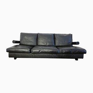 Baisity 3-Sitzer Sofa aus Leder von Antonio Citterio für B&B, 1980er