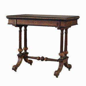 Table pour Jeux de Cartes Victorienne Antique