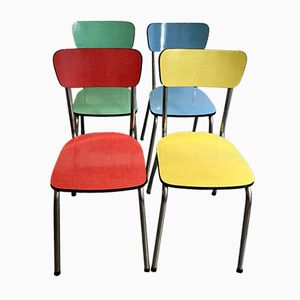 French Formica Chairs, 1960s, Set of 4