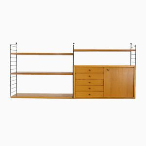 Vintage Rosewood Veneer Wall Unit by Katja & Nisse Strinning for String