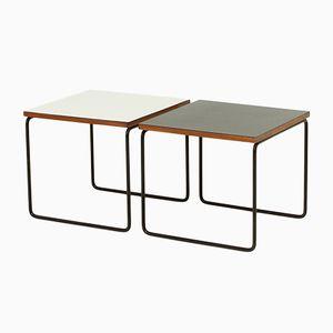 Tables d'Appoint Volante par Pierre Guariche pour Steiner, 1950s, Set de 2