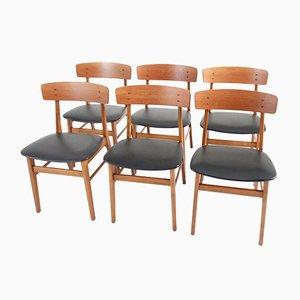 Esszimmerstühle von Farstrup Møbler, 1950er, 6er Set