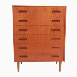 Mid-Century Danish Chest with Six Drawers