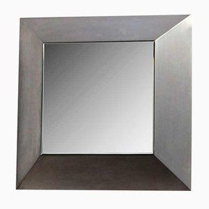 Italienischer Spiegel mit Stahlrahmen, 1970er