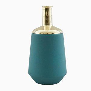 Green Tall Vase by Hend Krichen