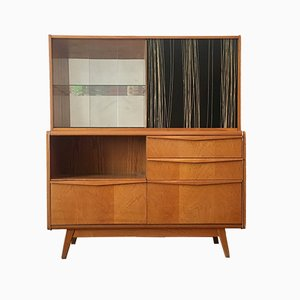 Wooden Sideboard with Bar by Bohumil Landsman & Hubert Nepozitek for Jitona, 1960s