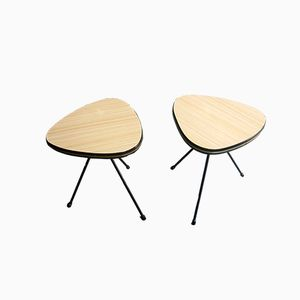 Tables Tripodes Vintage, France, Set de 2
