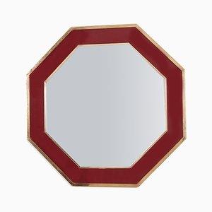 Achteckiger Vintage Spiegel
