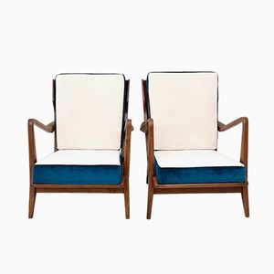 516 Armchairs by Gio Ponti for Cassina, 1950s, Set of 2