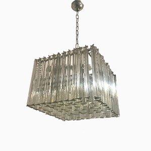 Lampada Mid-Century con prismi in cristallo di Paolo Venini