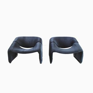 F598 Groovy Chairs in Velvet by Pierre Paulin for Artifort, 1970s, Set of 2