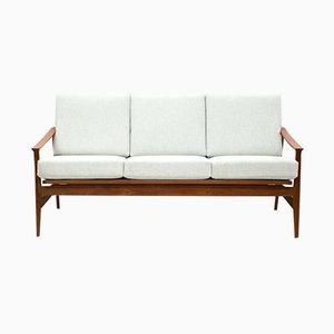 Mid-Century German Teak 3-Seater Sofa from Thonet, 1960s