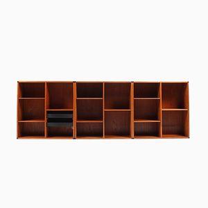 Librerie da parete di Aksel Kjersgaard, set di 3