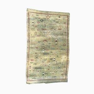 Large Vintage Moroccan Silk Kilim