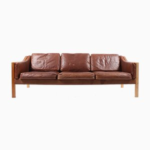 Sofa in Leather by Poul M. Volther for Erik Jørgensen, 1960s