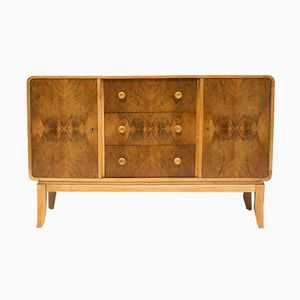 Art Deco Walnut & Oak Sideboard, 1930s