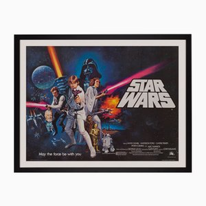 Affiche de Film Star Wars par Tom Chantrell, 1977