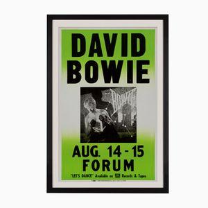 David Bowie Concert Poster, 1983