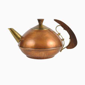 Deutsche Mid-Century Teekanne aus Kupfer von JEKA, 1950er