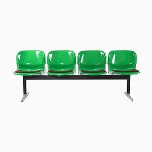 Vintage Sitzbank aus Stahl, Aluminium und Kunststoff von Gerd Lange für Drabert