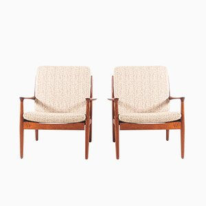 Armchairs in Oiled Teak by Svend Åge Eriksen for Glostrup, 1960s, Set of 2