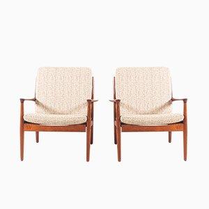 Armlehnstühle aus geöltem Teak von Svend Åge Eriksen für Glostrup, 1960er, 2er Set