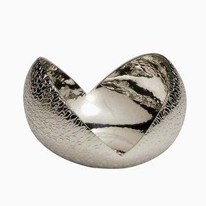 Ovale Noce Schale in Silber von Zanetto