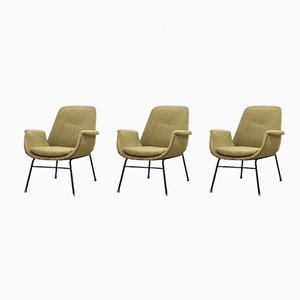 Mid-Century Italian Lounge Chairs from Rima, Set of 3