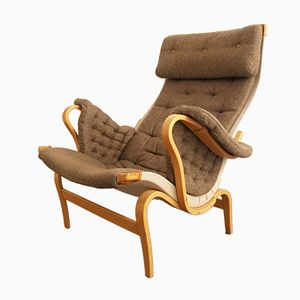 Vintage Swedish Pernilla Lounge Chair by Bruno Mathsson for Dux