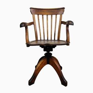 Chaise de Bureau Pivotante en Chêne, Italie, 1920s