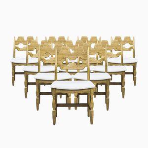 Chaises de Salle à Manger par Henning Kjaernulf pour EG Møbler, Danemark, 1960s, Set de 10