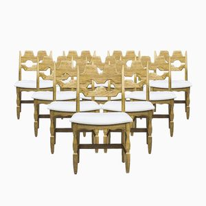 Danish Dining Chairs by Henning Kjaernulf for EG Møbler, 1960s, Set of 10