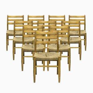 Sedie da pranzo di Harry Moen per Konrad Steinstads Snekkerverksted, Norvegia, anni '60, set di 10