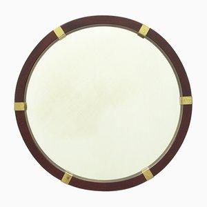 Espejo de caoba y latón, años 60
