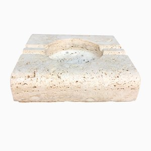 Square Travertine Ashtray from Fratelli Mannelli, 1970s