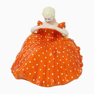 At Deco Porcelain Sculpture by G. Ronzan, 1940s