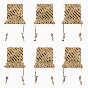 Esszimmerstühle von Giovanni Offredi für Saporiti, 1970er, 6er Set