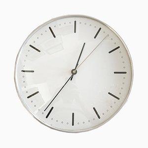 Horloge Murale de Mairie Mid-Century par Arne Jacobsen pour Gefa, 1950s